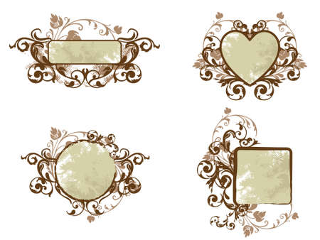 Brown Floral Banner Collection