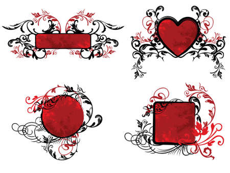 red floral banner collection