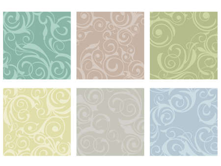 Floral patterns on colorful tiles