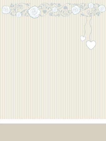 Valentijn kaart met hart en rozen