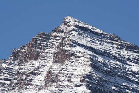 雪のキャップ 写真素材