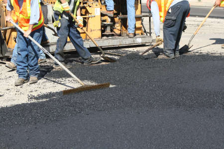 patching streets on city hiway
