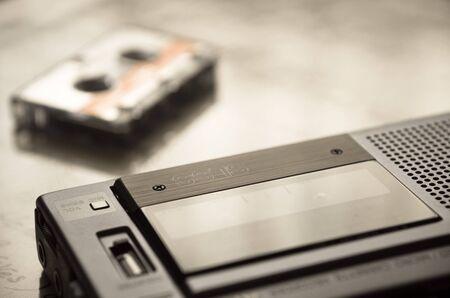 tape recorder: Old Cassette tape recorder Stock Photo