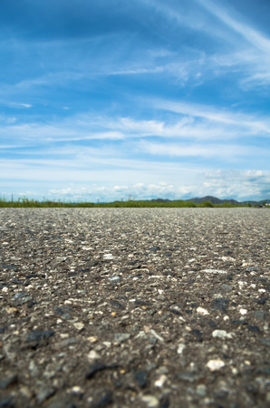 empedrado: Paved road view in horizontal