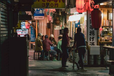 Local street restaurant in Makishi market, Okinawa Publikacyjne