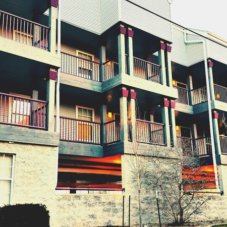 Nice apartment complex in IL Archivio Fotografico