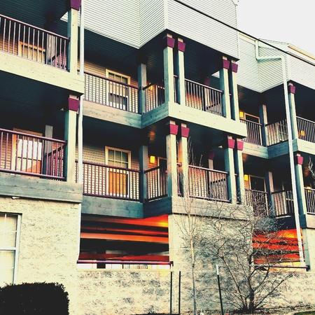 apartment: Nice apartment complex in IL Stock Photo