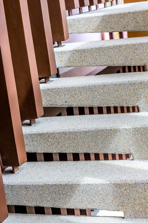 washed: washed gravel stone staircase step up ladder Stock Photo