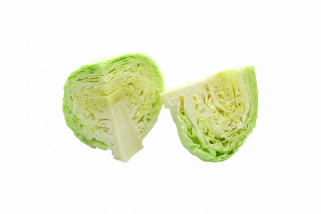 Isolated cabbage sliced on white background Stock Photo