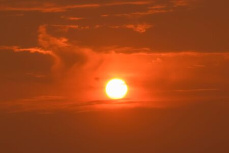 Sunrise sunset in the sky with selective focus on the sun Reklamní fotografie