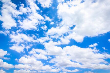 Clear blue sky with cloudy as a background wallpaper, pastel sky wallpaper Reklamní fotografie