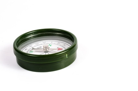 magnetic: green magnetic compass Stock Photo