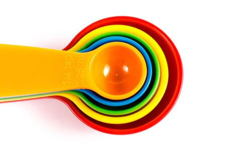 measuring spoons: colorful measuring spoons