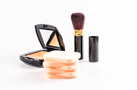 face powder: stack of face powder sponge