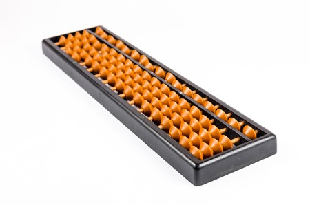 compute: vintage abacus isolated on white background