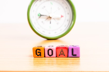 magnetic north: way in to Goal Stock Photo