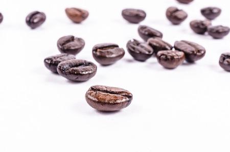 frijol: caf� tostado en grano Foto de archivo