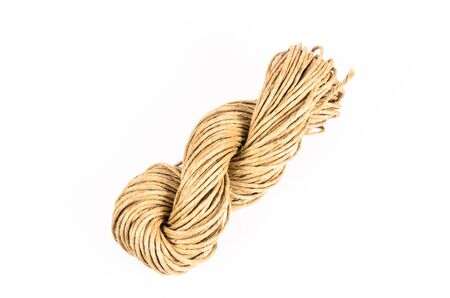 fixed line: roll of rope texture,burlap Stock Photo
