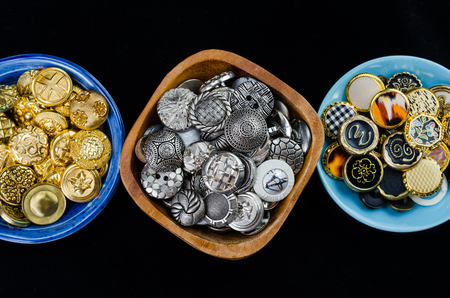 sewing button: vintage sewing button collection