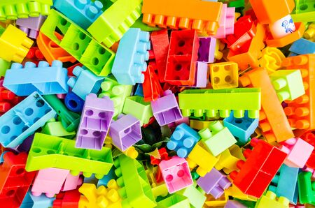 toy block: colorful toy block Stock Photo