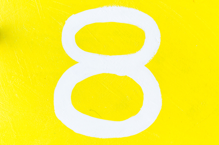 eight: 8 number eight digit