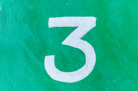 arabic numeral: 1 number three digit