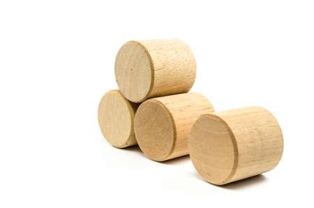 wood blocks: wooden toy blocks isolated on white background Stock Photo
