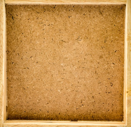 chipboard: Frame of recycled compressed wood chipboard background