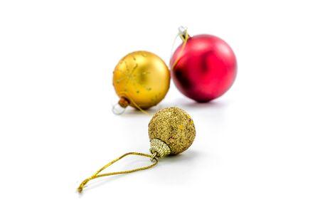 adorning: christmas ornament isolated on white background