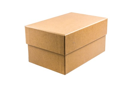 cardboard: Brown cardboard box isolated on white background