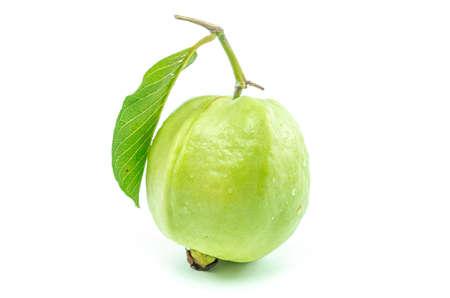 guava fruit: Fresh guava fruit isolated on white background