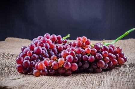 sackcloth: red grape on sackcloth