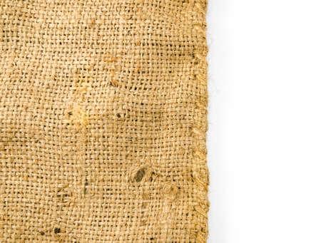 sackcloth: sackcloth isolated on white background,