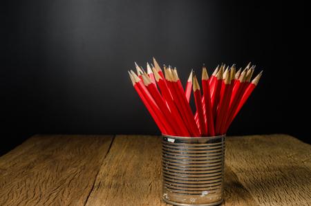 lápiz de madera en lata, Idea para oficinas, escuelas, hogar,
