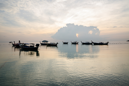 foreground of long tail boat at the south of Thailand ,Lipe island ,Thailand Stockfoto
