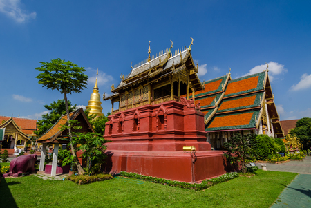 ancient church in the north Thailand,Wat Phra That Hariphunchai