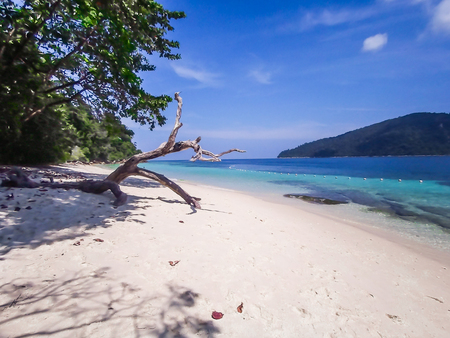 white sand beach island at the south of Thailand Stock Photo