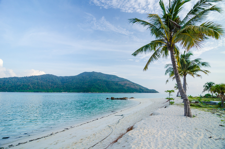 white sand beach at the south of Thailand Stock Photo