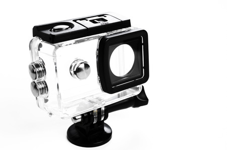 camera waterproof case isolated on white background