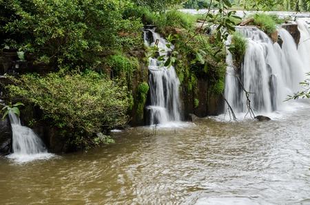 tad pha suam waterfall,beautiful waterfall in Pakse,laos. Stockfoto