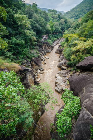 Scene of water flow at creek ,obluang national park ,Chiangmai ,Thailand