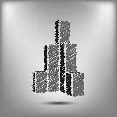 sketchy: Sketchy building vector icon vector illustration design