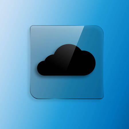 airplay: Vector black cloud icon vector illustration design