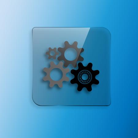 parameter: Four gears icon vector illustration design Illustration