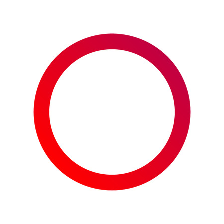 rules of road: No Traffic Red Sign - Circular road sign in red and white color as isolated illustration