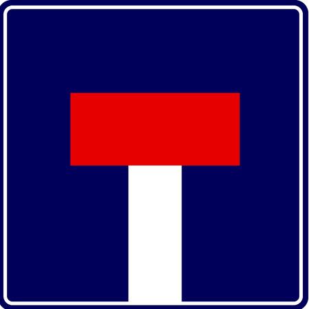 nowhere: Dead End - vector traffic sign Illustration