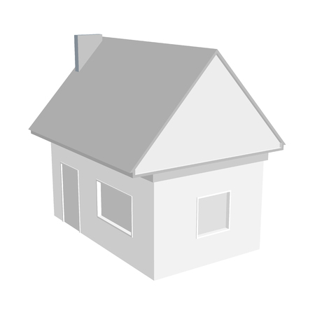 diminishing perspective: 3D house model Illustration