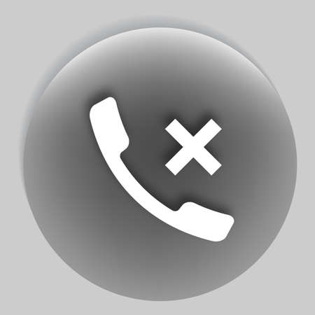 caller: Hang up the phone flat vector icon. EPS10 illustration