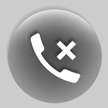 hangup: Hang up the phone flat vector icon. EPS10 illustration