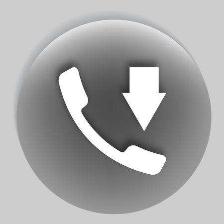 call log: Incoming call flat style vector icon illustration
